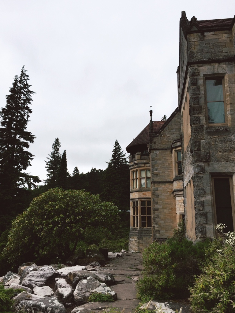 The front of a National Trust house in Northumberland