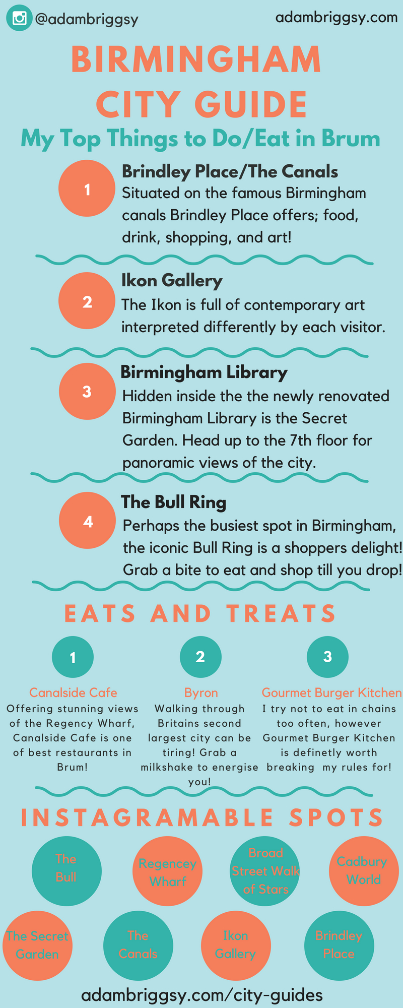 A guide to Birmingham, West Midlands, England